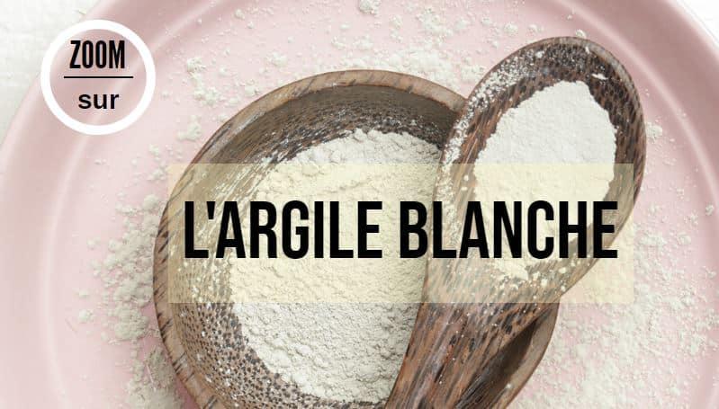 argile blanche surfine en poudre