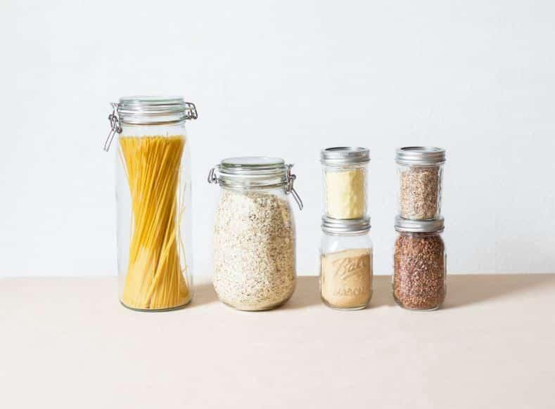 bocaux contenants en verre zéro déchet cuisine