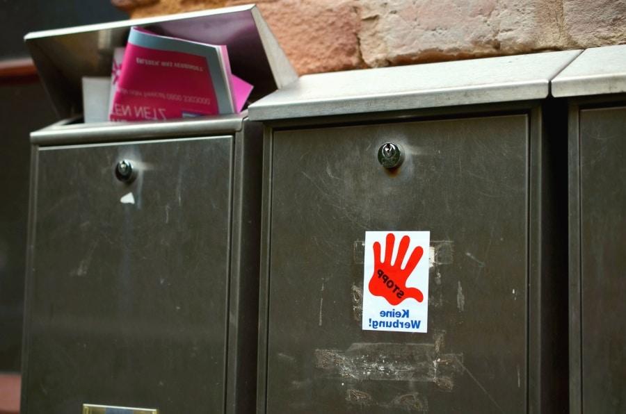 boites aux lettres papier publicité stop