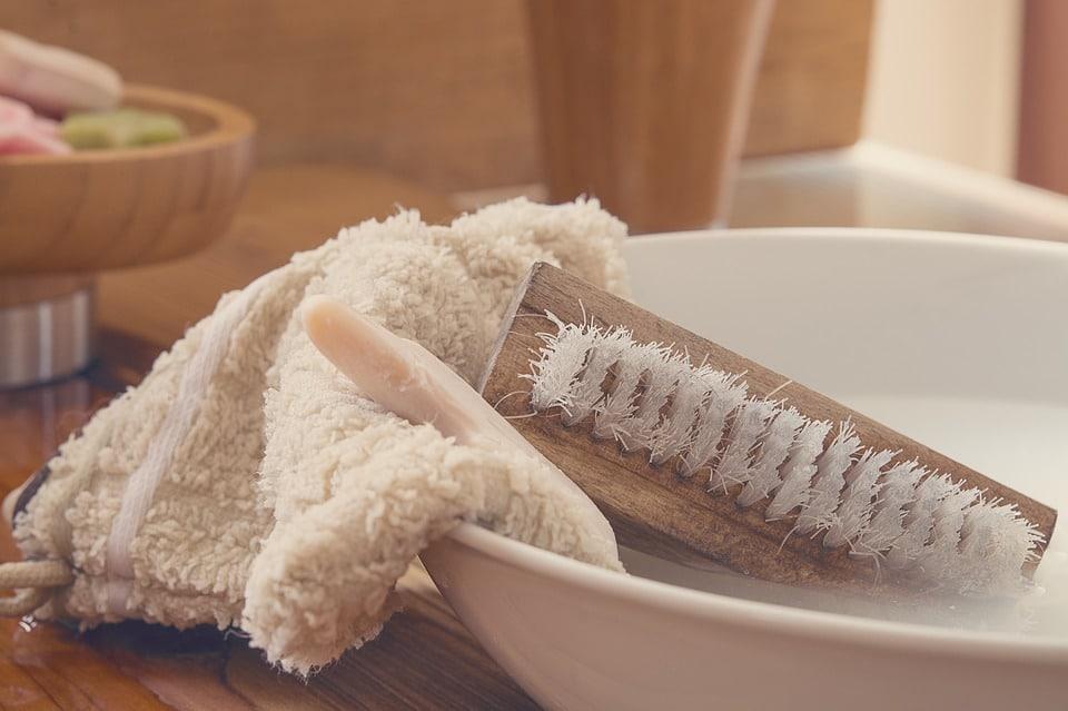 gant de toilette salle de bain