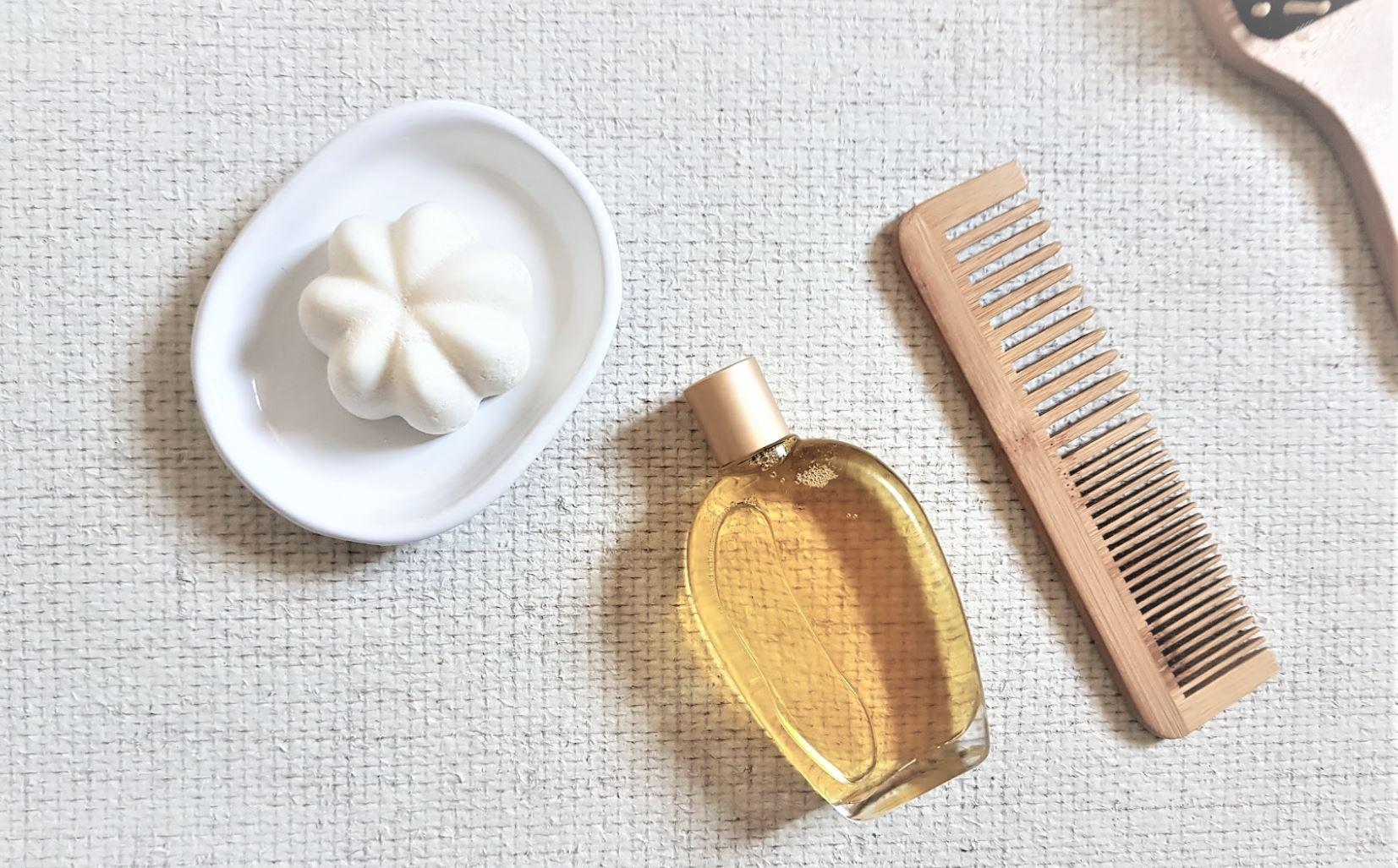 huile avant shampoing zéro déchet