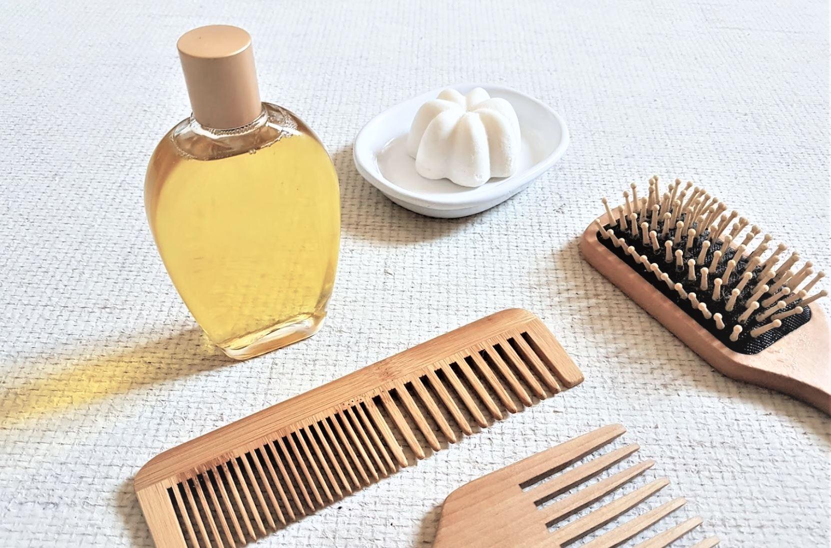 huile cheveux avant après shampoing