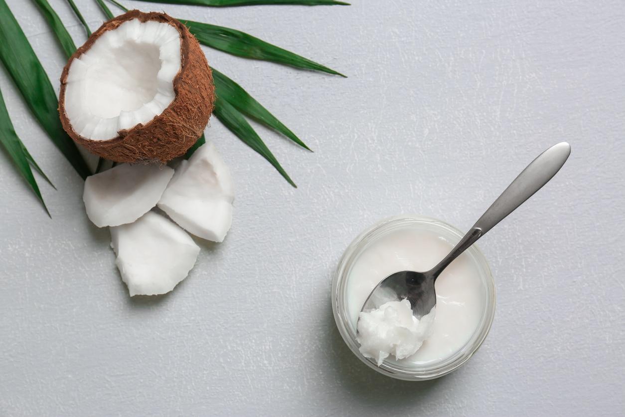 huile de coco noix de coco cosmétiques zéro déchet