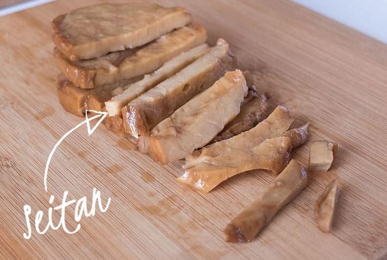 lamelles de seitan pour remplacer la viande