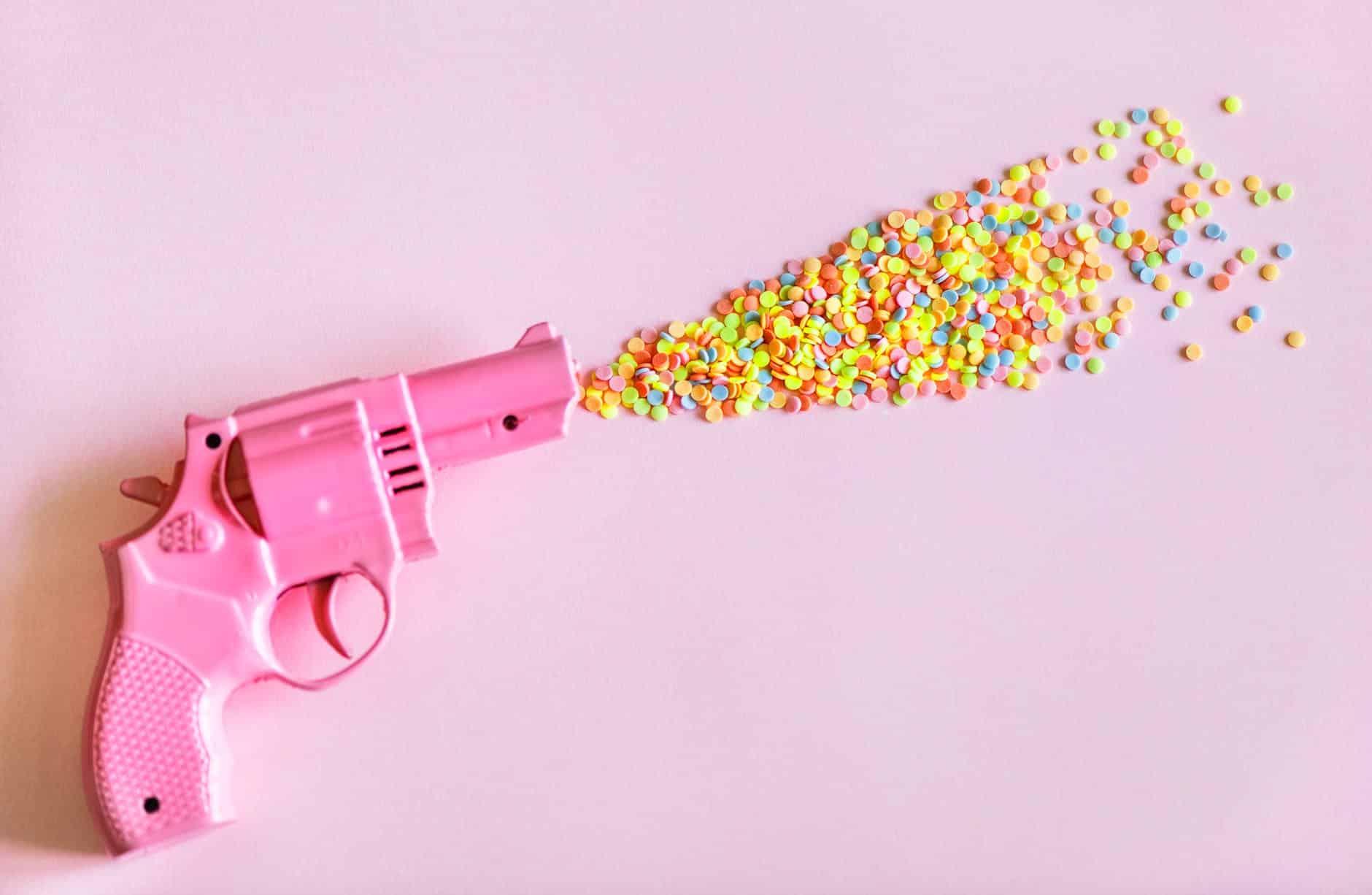 pistolet en plastique enfant jouet