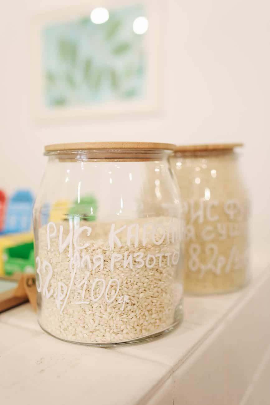 riz en vrac bocal bocaux zéro déchet eau de cuisson