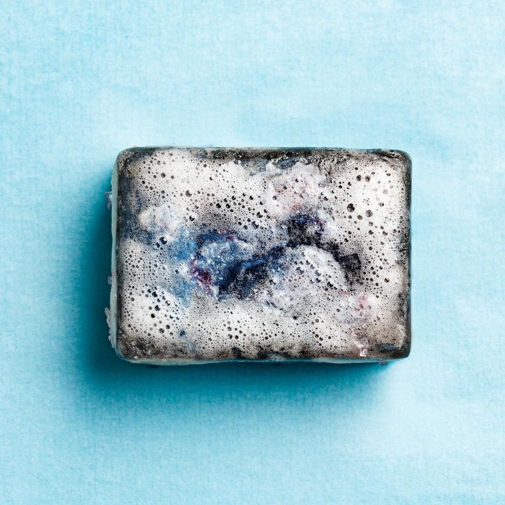pain de savon noir naturel mousse