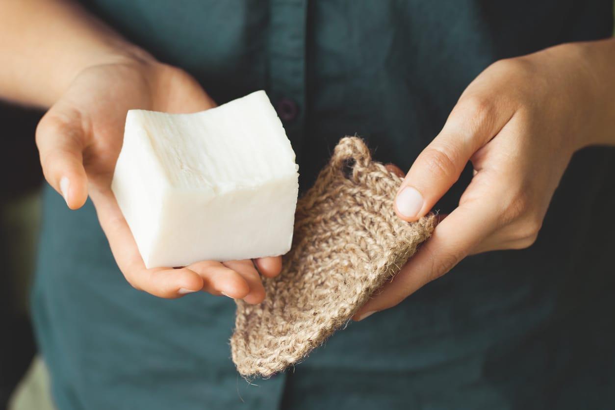 savon solide zéro déchet vaisselle tawashi éponge écologique
