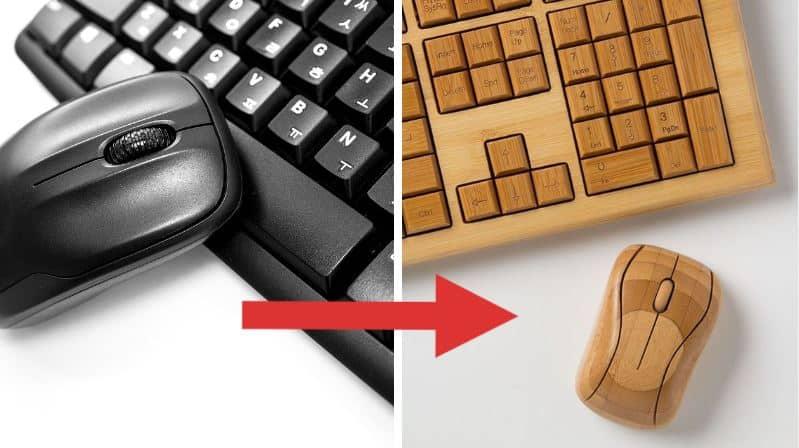 clavier de souris pc ordinateur alternatives au plastique