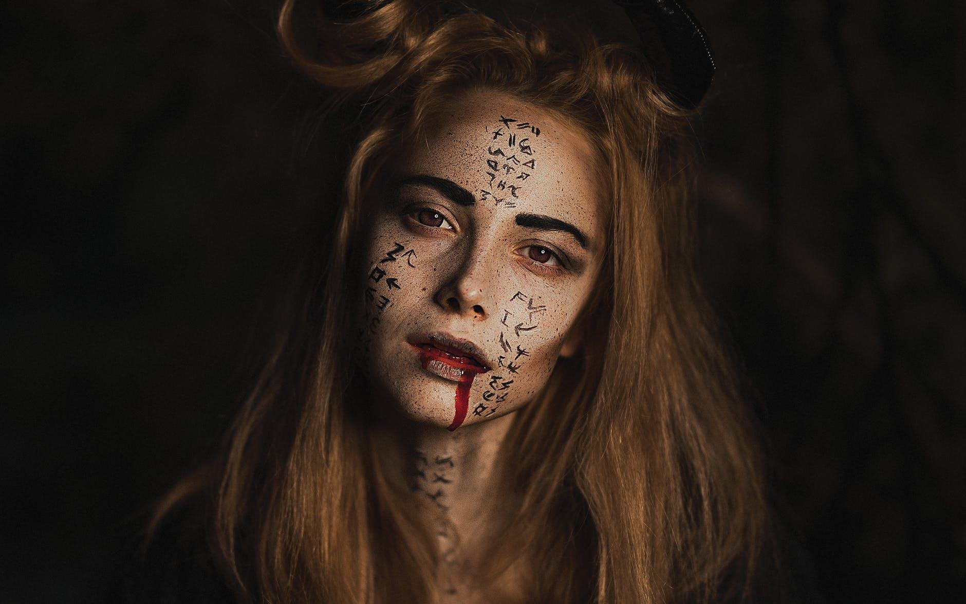 faux sang déguisement de vampire