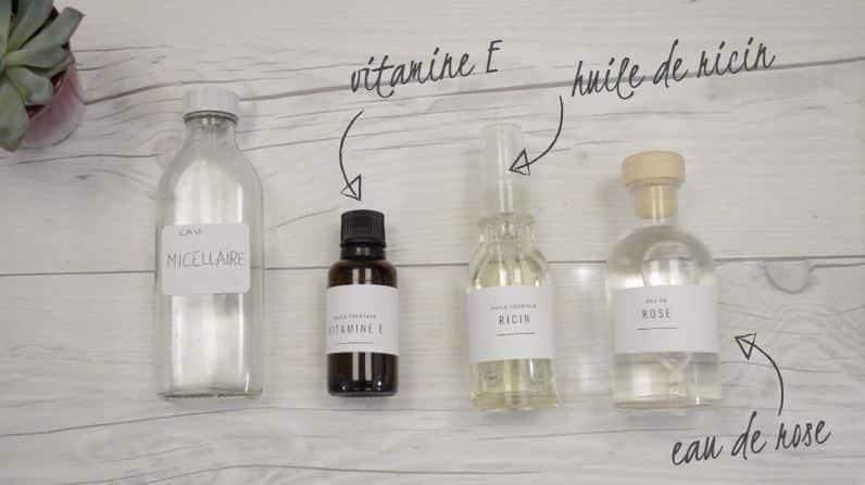 eau micellaire maison zéro déchet ingrédients naturels