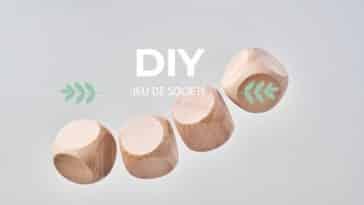 dés à jouer jeu de société en bois zéro déchet écologique