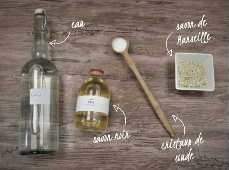 lessive maison zéro déchet ingrédients naturels