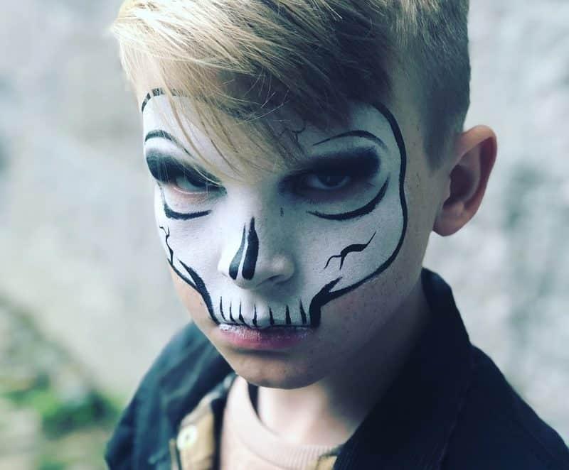 maquillage Halloween zéro déchet enfant