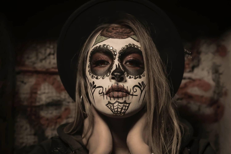 maquillage Halloween zéro déchet