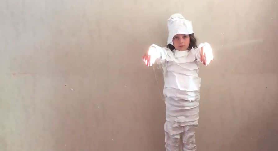 déguisement de momie costumes Halloween zéro déchet