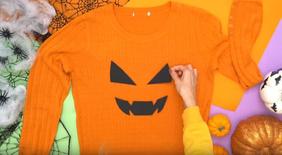 costumes d'Halloween zéro déchet citrouille