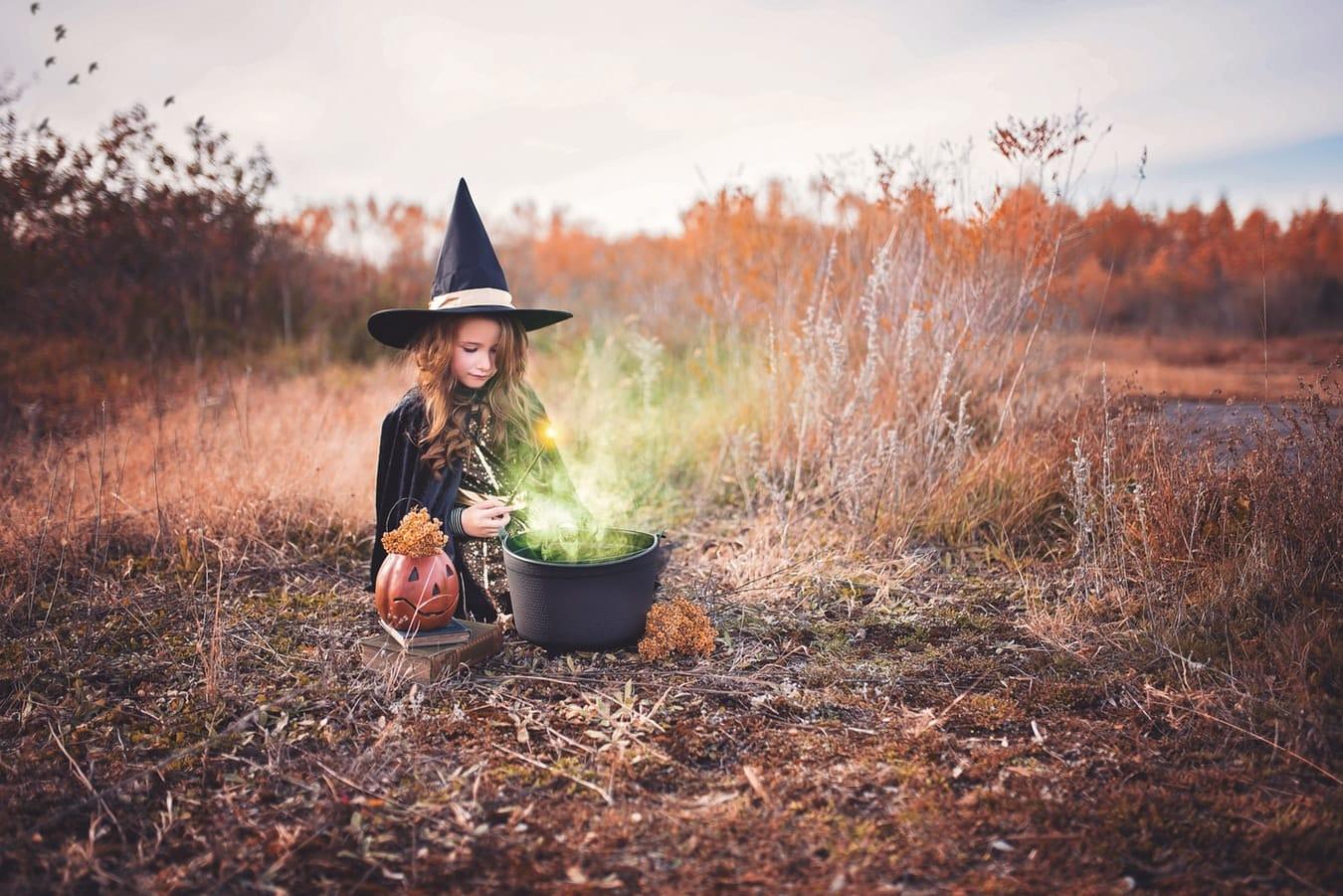 déguisement de sorcière costume Halloween zéro déchet