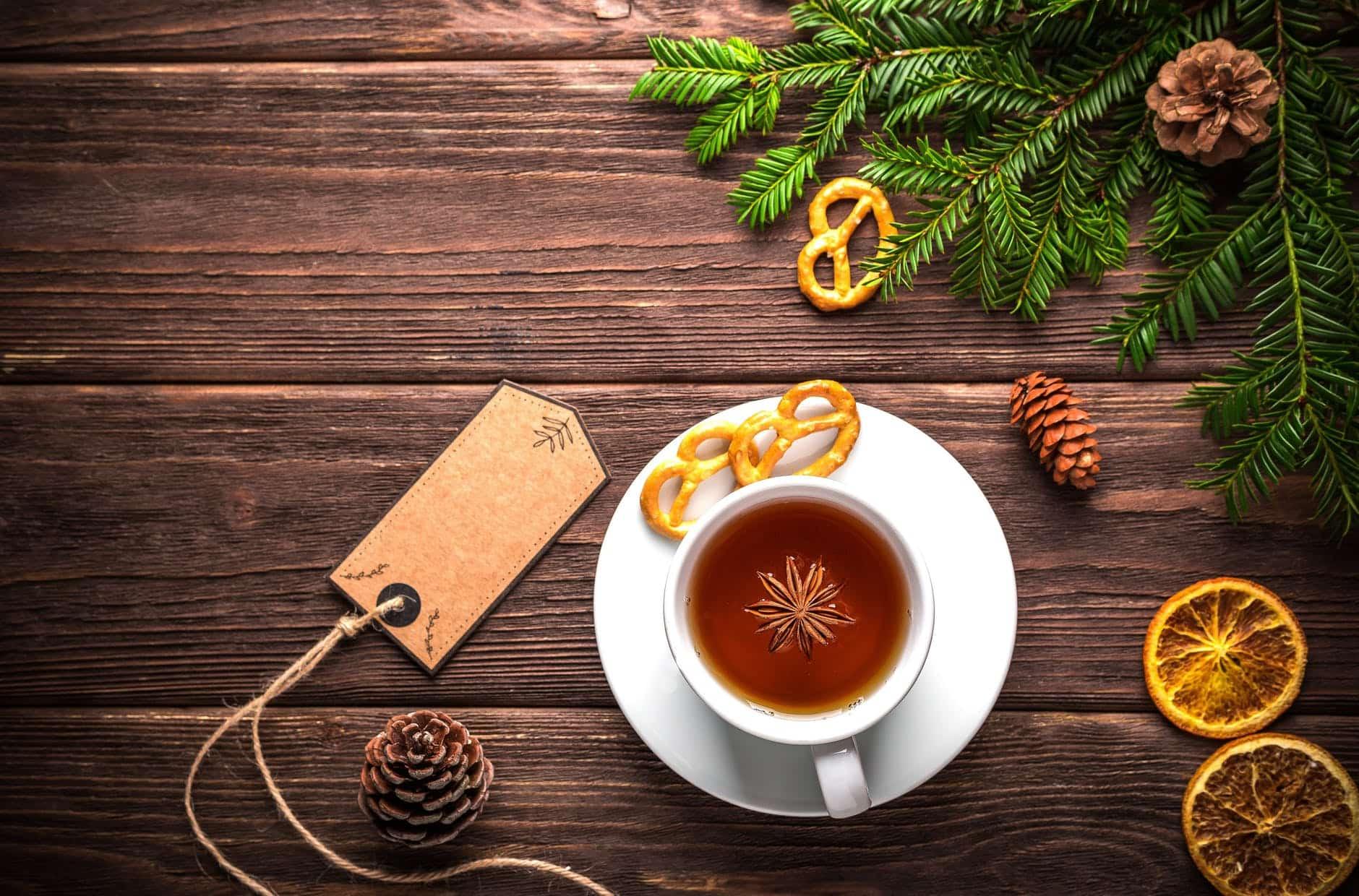 petit déjeuner zéro déchet tasse de thé aux épices Noel