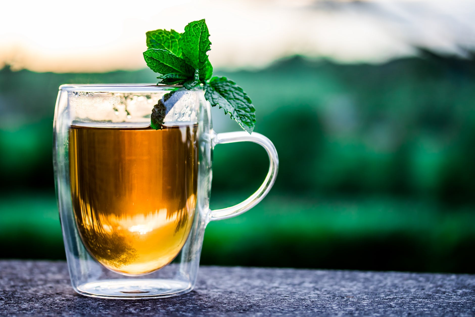 thé vert à la menthe infusion tisane