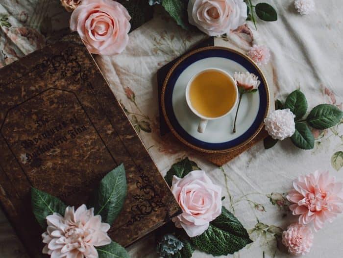 tisane zéro déchet rose fleurs tasse de thé