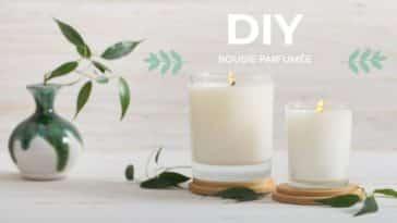 bougie parfumée DIY naturelle zéro déchet maison