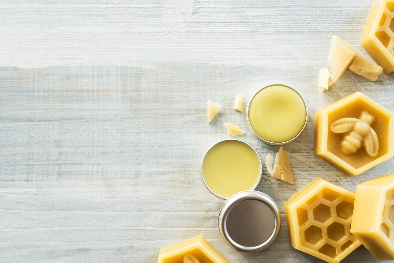 cire d'abeille cosmétiques naturels baume