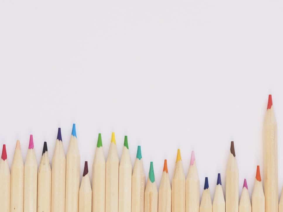 fournitures scolaires zéro déchet crayons de couleur