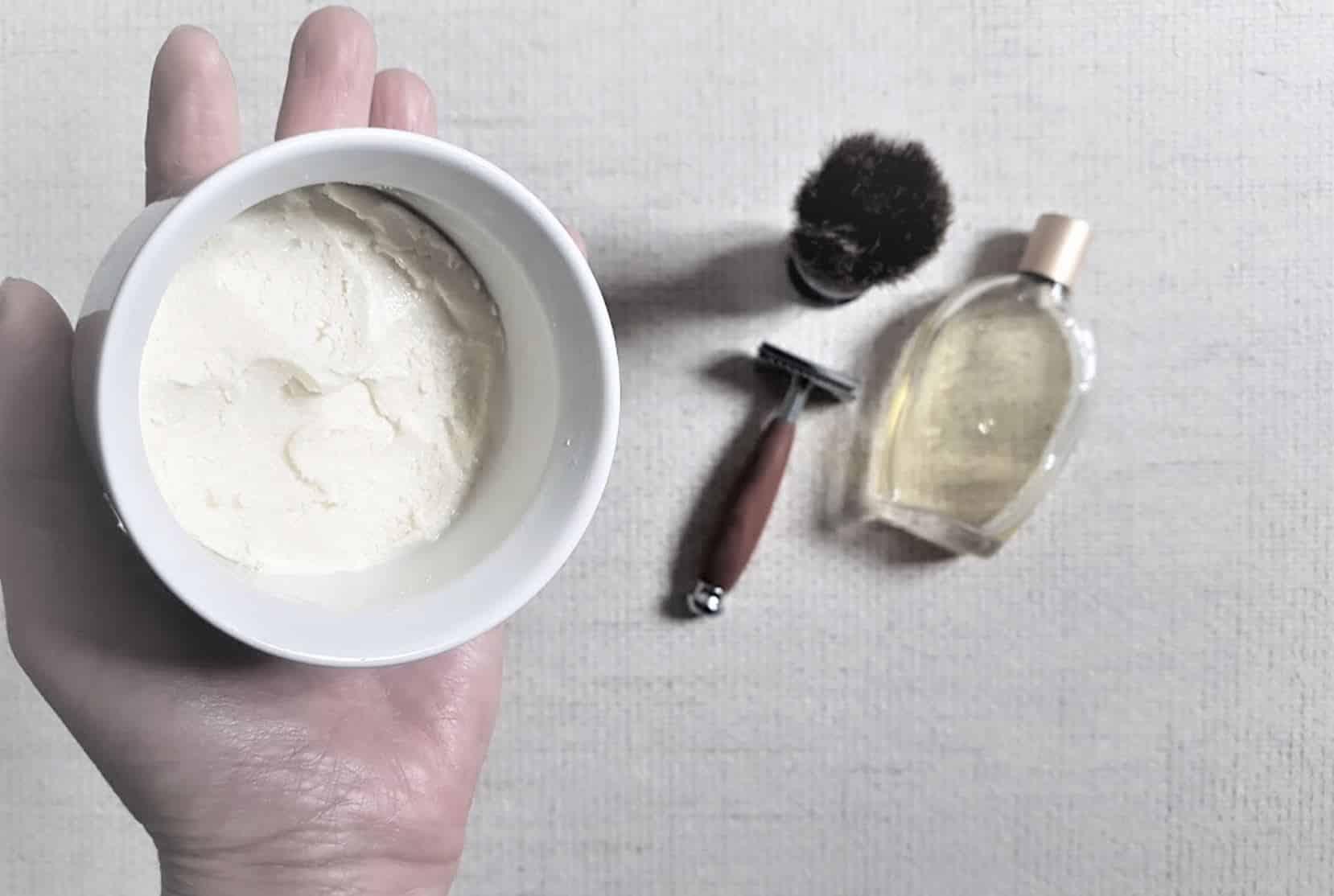 crème raser naturelle diy