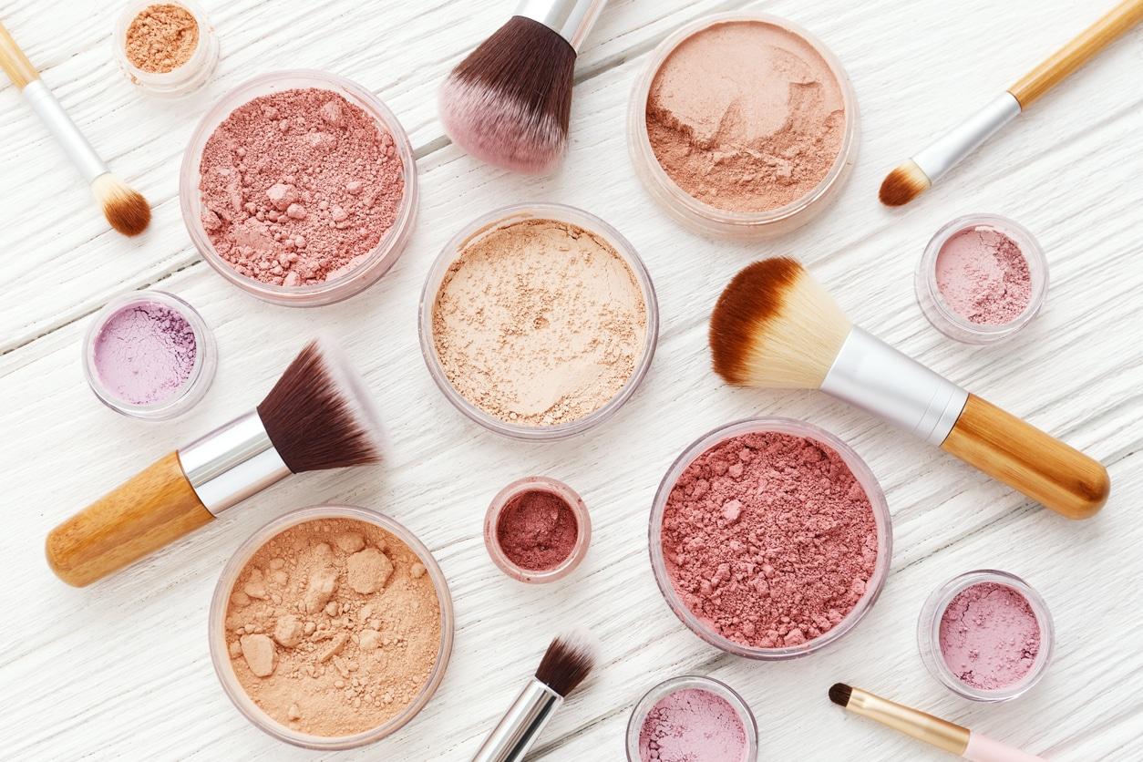 poudre libre compacte maquillage pinceau zéro déchet