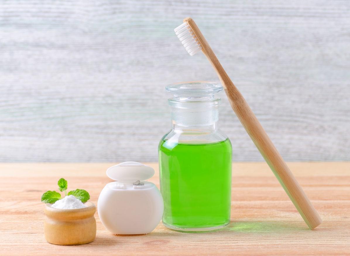 bain de bouche naturel recette zéro déchet brosse à dents