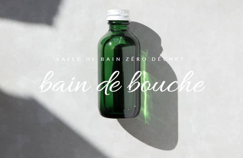 bain de bouche naturel bouteille flacon en verre