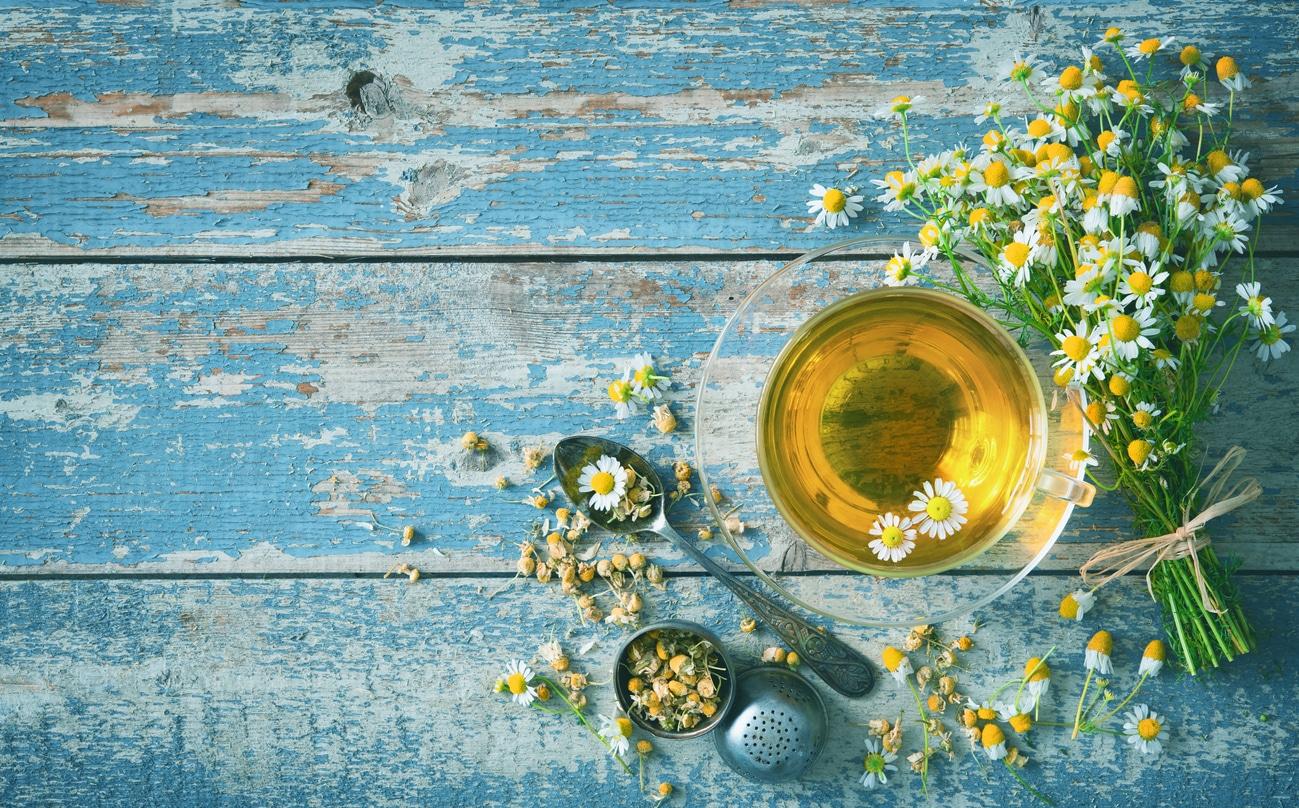 tisane camomille infusion zéro déchet recette shampoing liquide fleurs