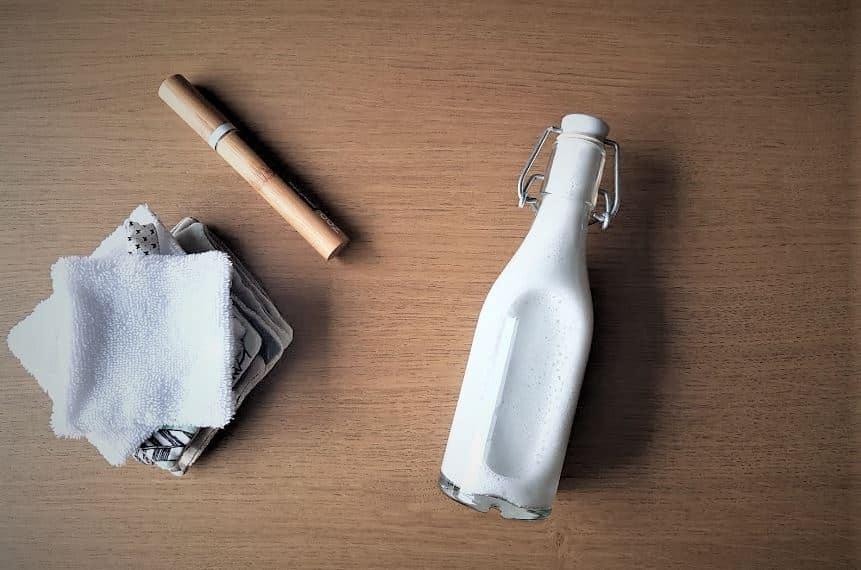 lait démaquillant recette maison maquillage cotons