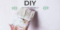 peinture naturelle maison DIY zéro déchet pinceau