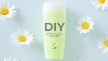 recette shampoing liquide fleurs de camomille flacon zéro déchet naturel