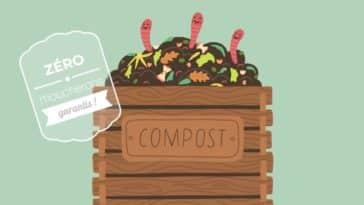 éviter les moucherons dans son compost jardin composteur vers