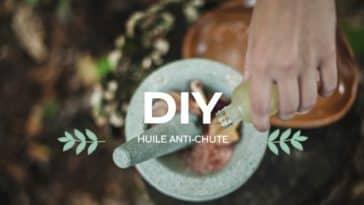 flacon huile anti-chute de cheveux maison DIY