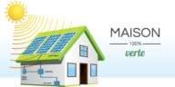 maison verte panneaux solaires