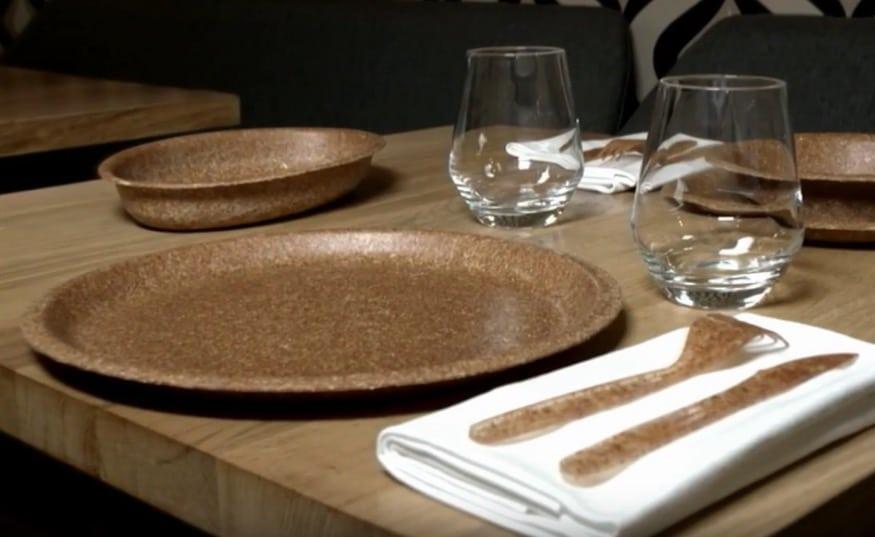 vaisselle écologique jetable et comestible assiettes restaurant durable