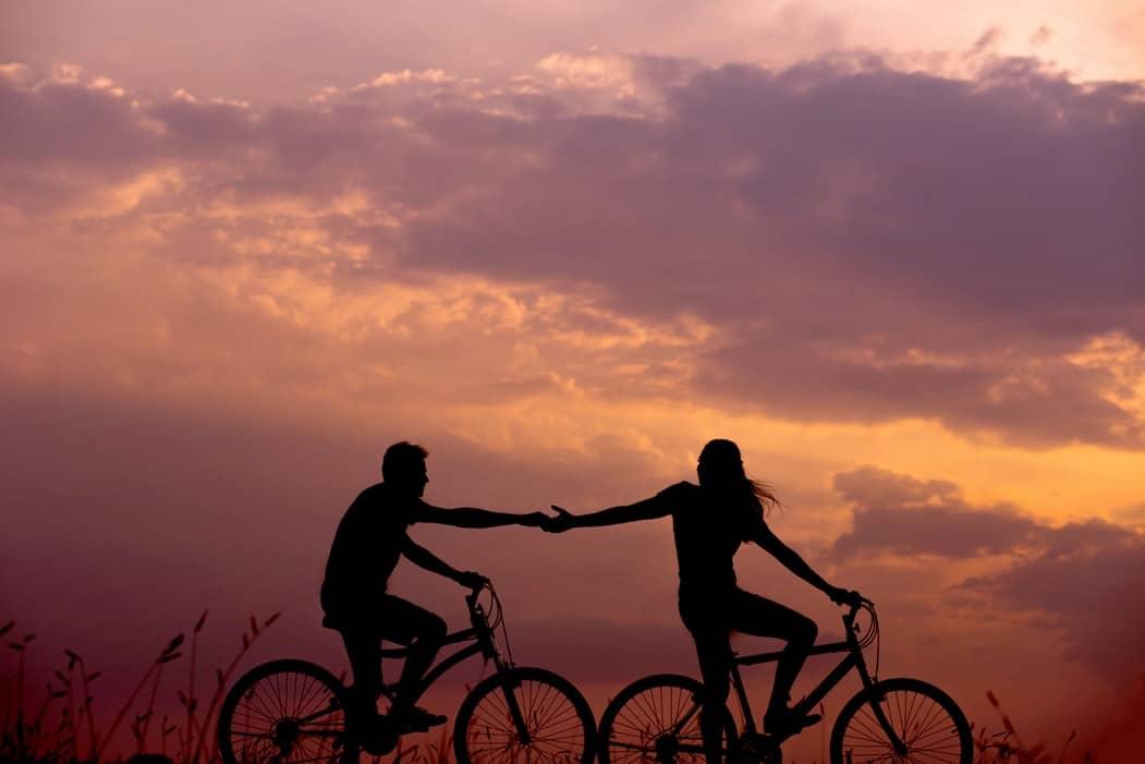 amour couple velo saint valentin zéro déchet écolo