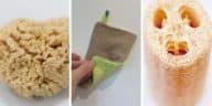 éponges écologiques zéro déchet luffa tawashi lavette
