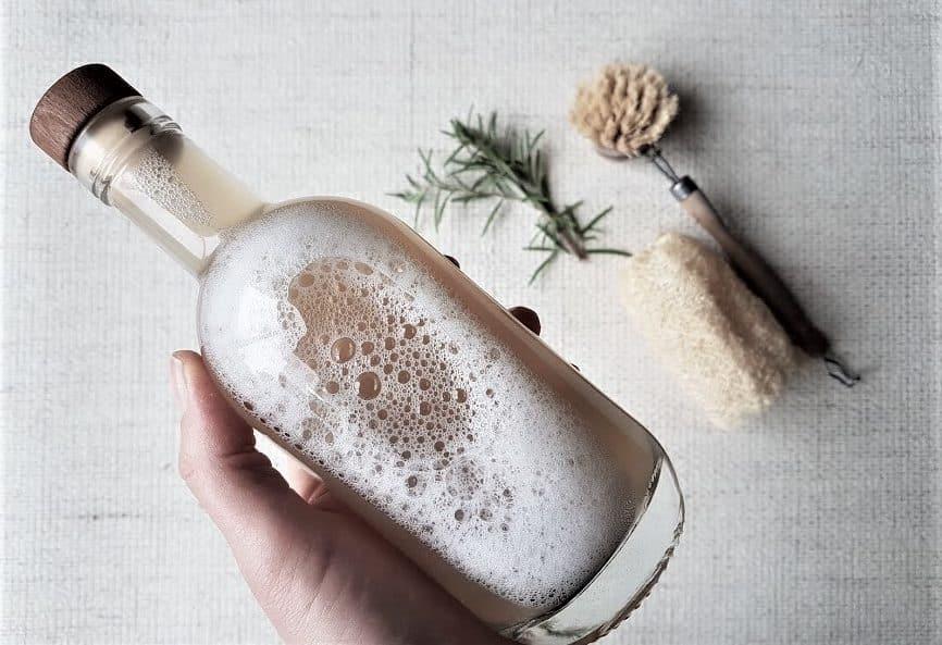 produit liquide vaisselle moussant recette maison