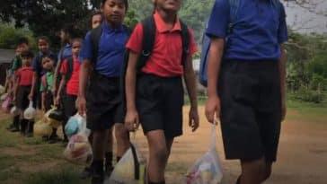 recycler déchets plastiques école inde payer frais