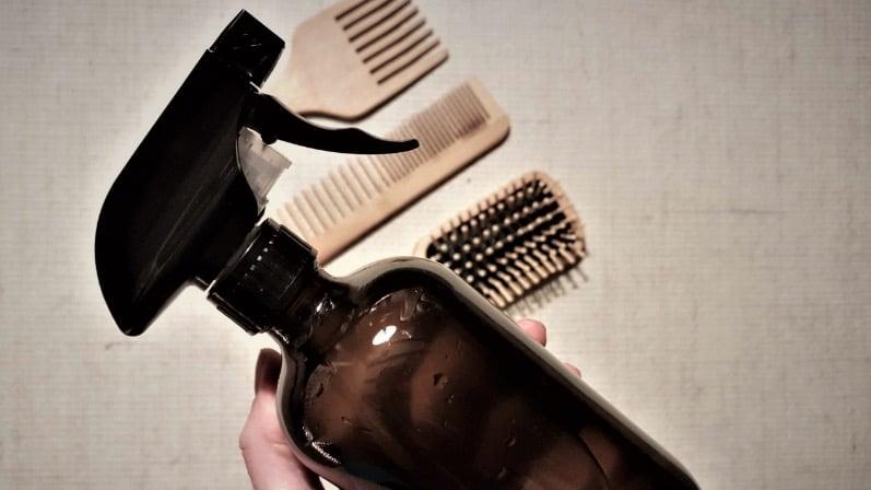 spray cheveux démêlant recette naturelle