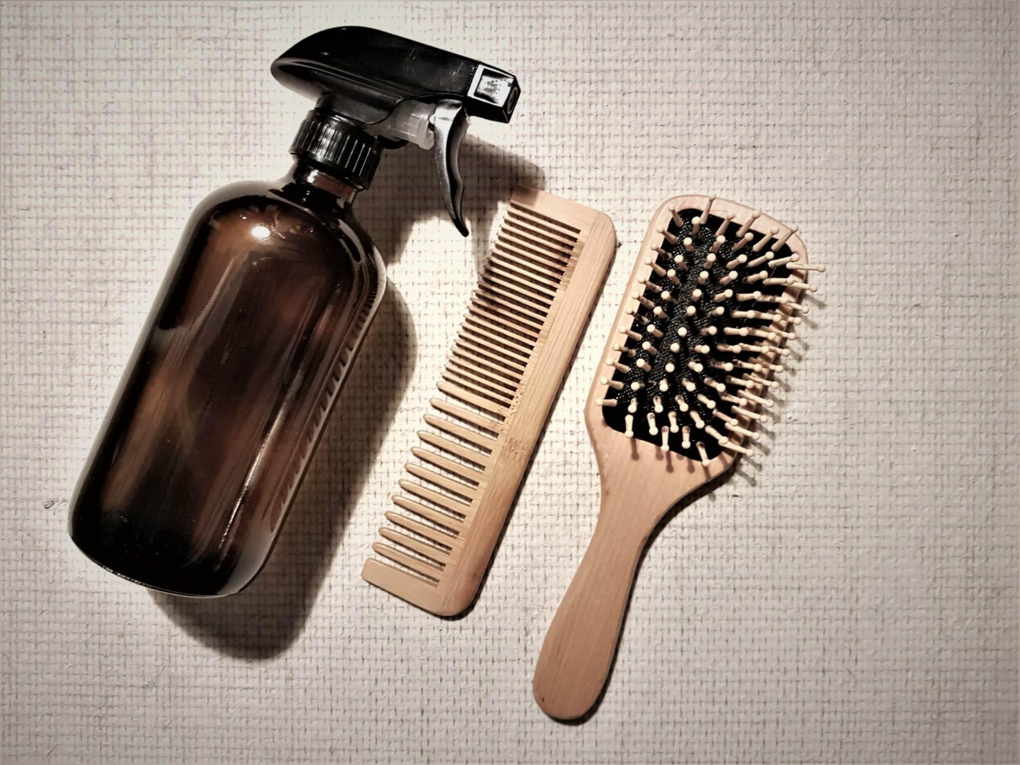 un spray cheveux démêlant recette naturelle