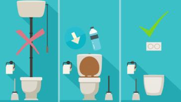 toilettes WC astuces salle de bain