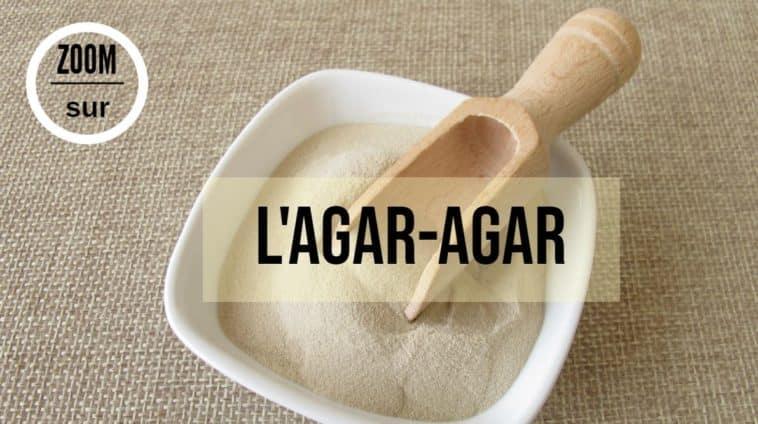 utilisation Agar-agar dans un bol cuillère en bois