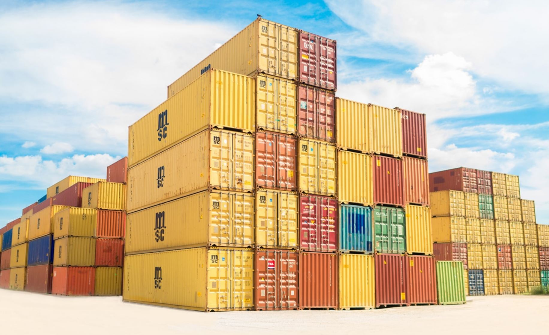 port containers maritimes maisons