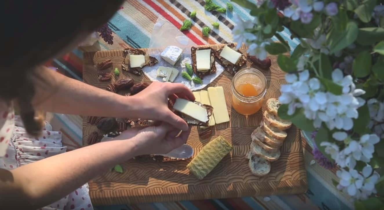 pique nique fromages gelée romarin printemps
